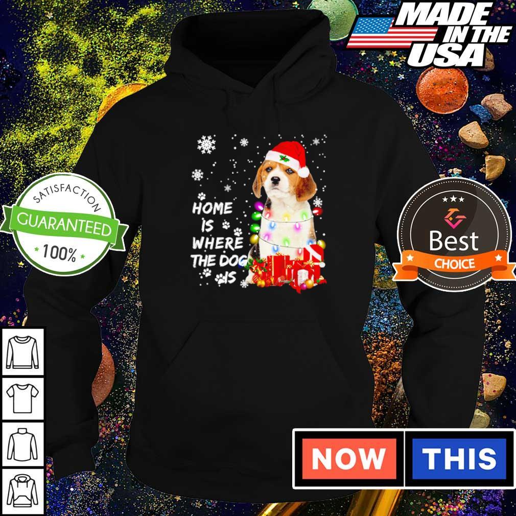 Beagle Santa home is where the dog is Christmas sweater hoodie