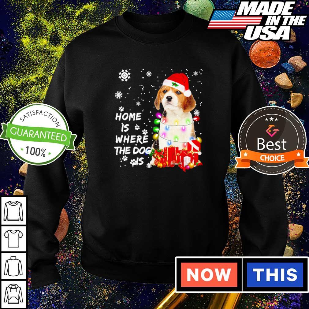 Beagle Santa home is where the dog is Christmas sweater