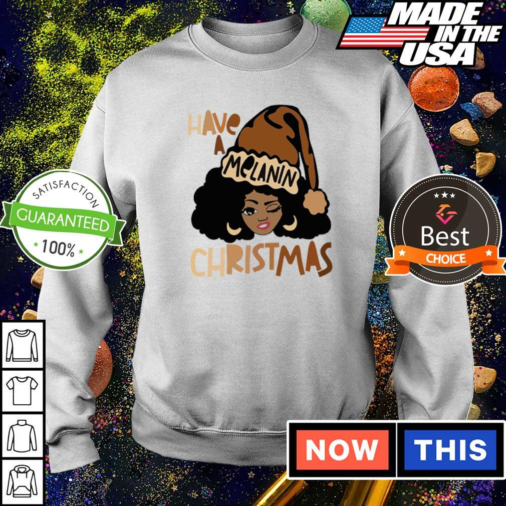 Black woman have a Melanin Christmas sweater