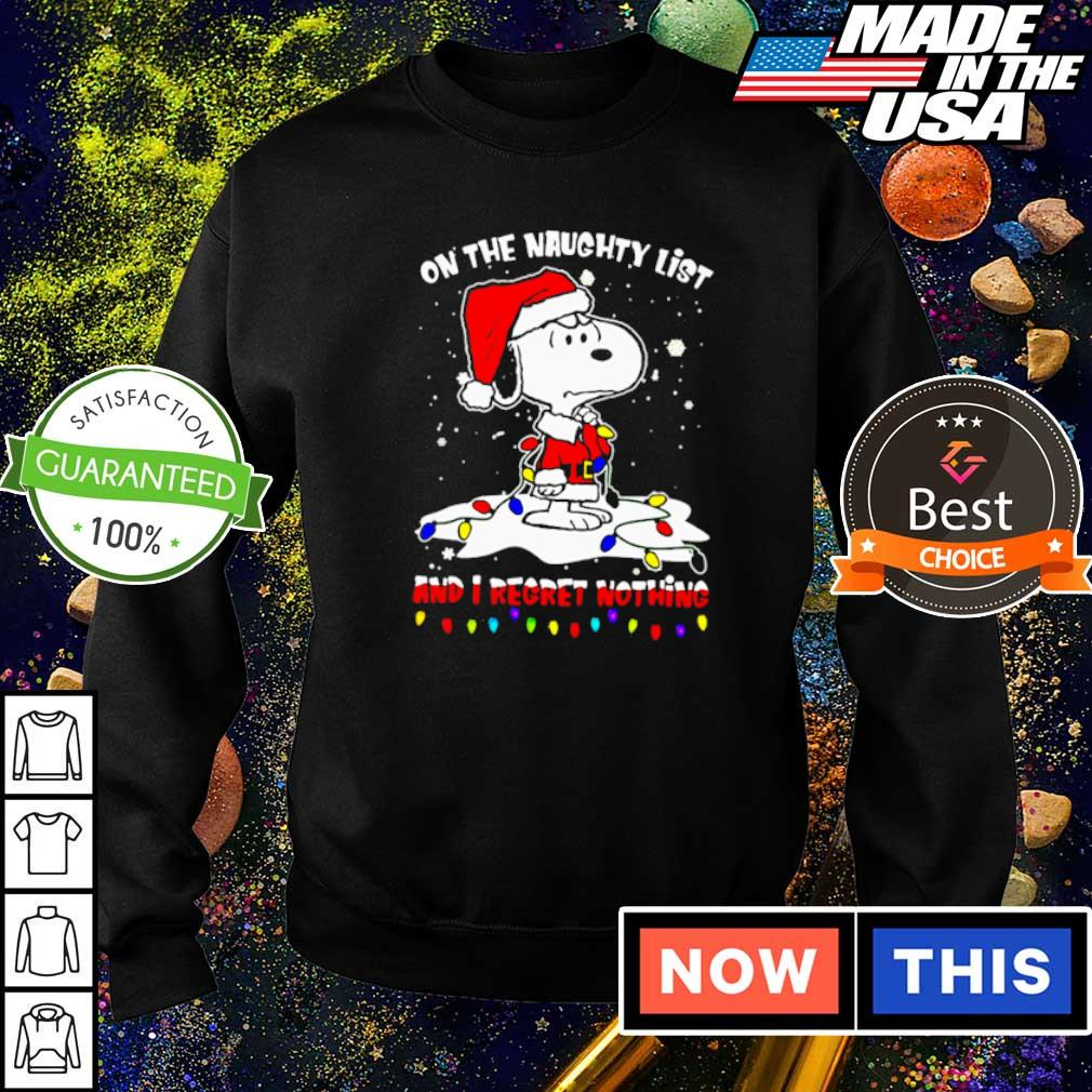 Snoopy on the naughty list and I regret nothing Christmas sweater