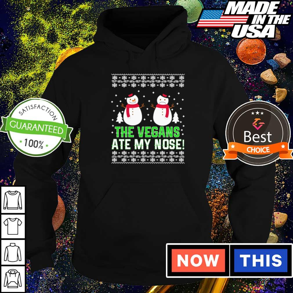Snowman the vegans ate my nose merry Christmas sweater hoodie