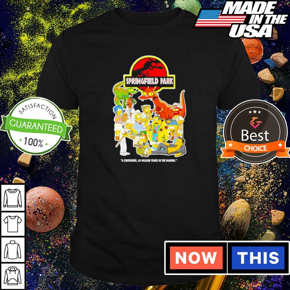 Spiringfield Park a crossover 65 million years in the making shirt