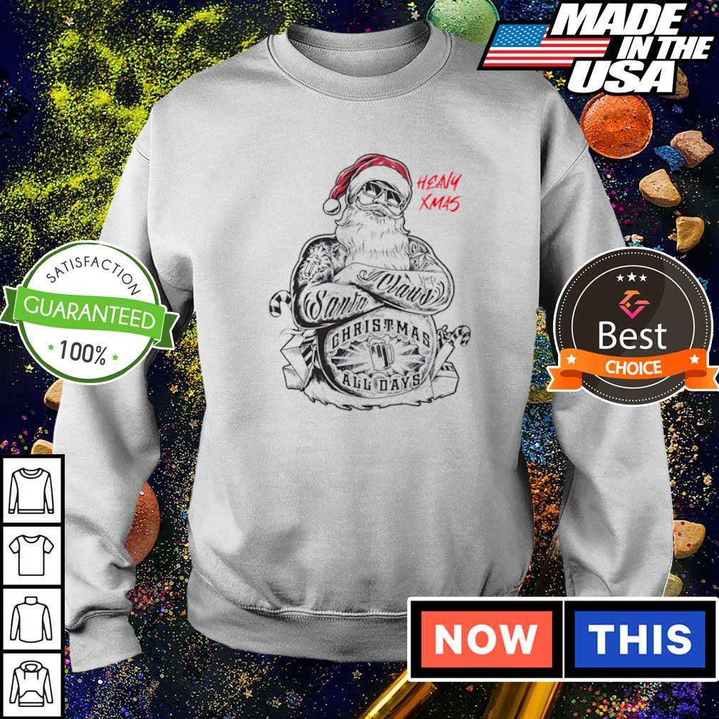 Tattoo Santa Claus merry Christmas all days sweater