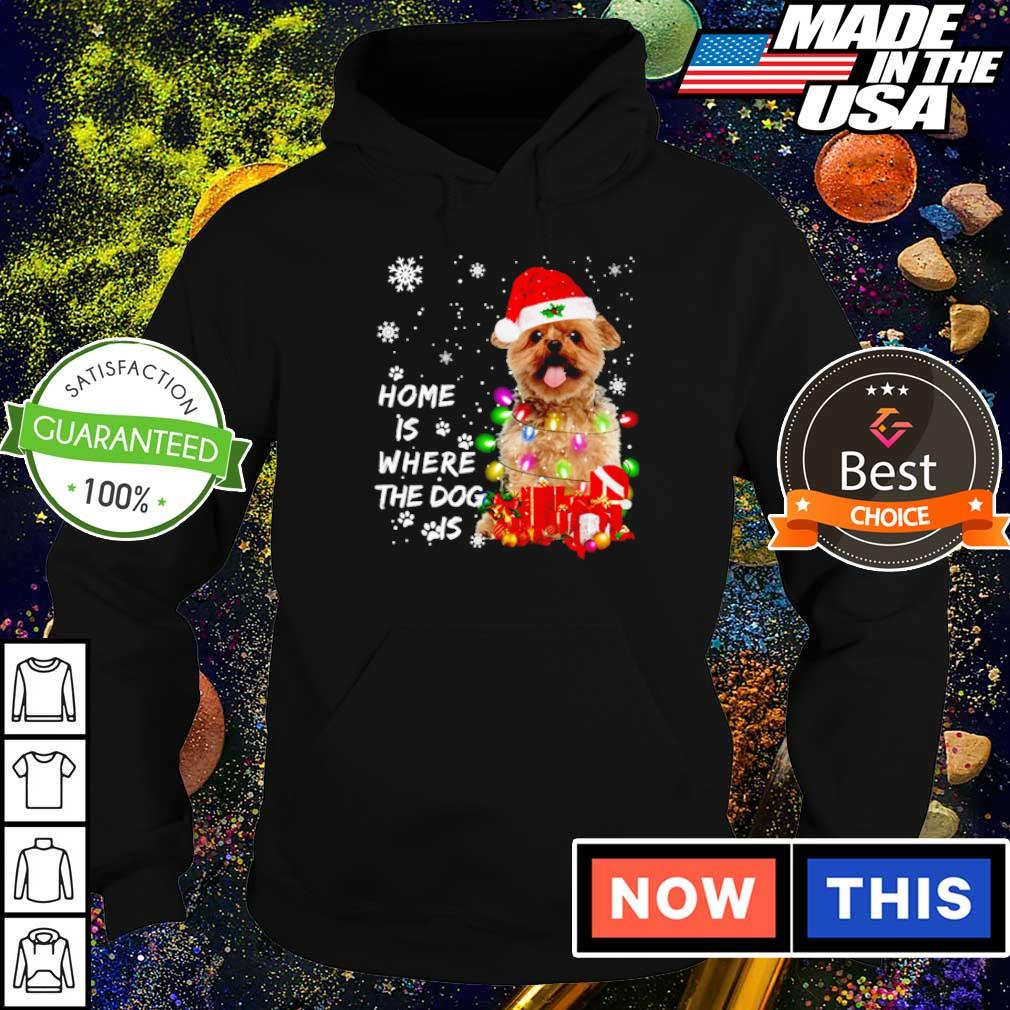 Yorkshire Santa home is where the dog is Christmas sweater hoodie