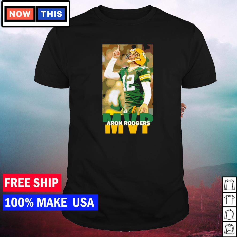Aaron Rodgers Green Bay Packers number 12 MVP NFL shirt