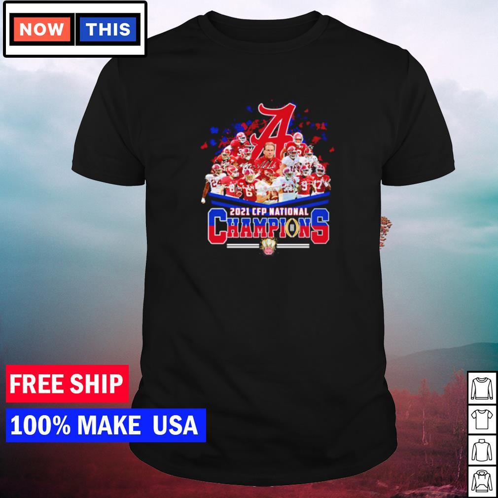 Alabama Crimson Tide 2021 CFP National Champions team signature shirt