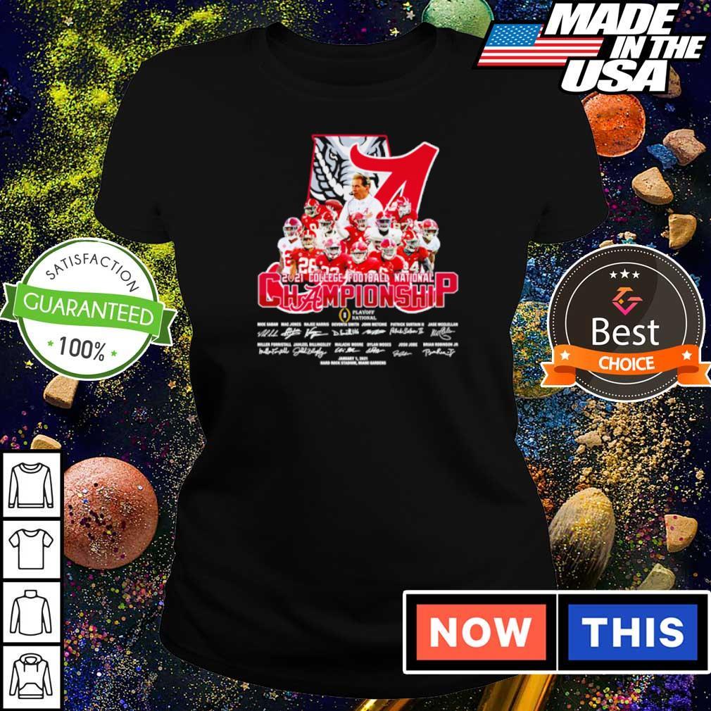 Alabama Crimson Tide 2021 College Football National Championship signature s ladies tee