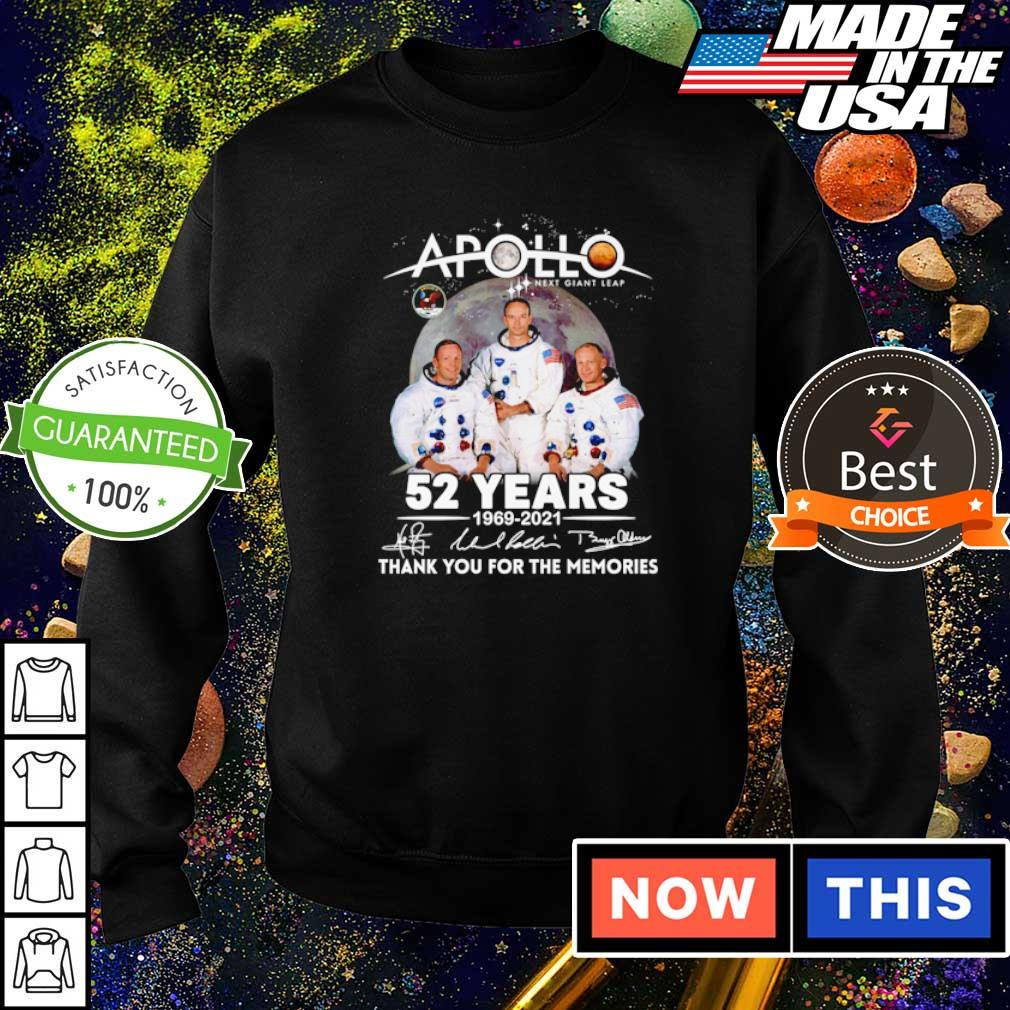 Apollo next giant leap 52 years 1969 2021 thank you for the memories signature s sweater