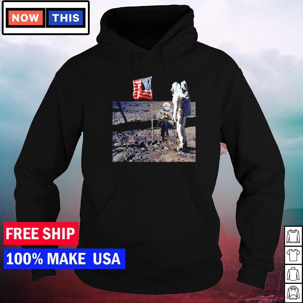 Astronaut Bernie Sanders on the moon American Flag s hoodie