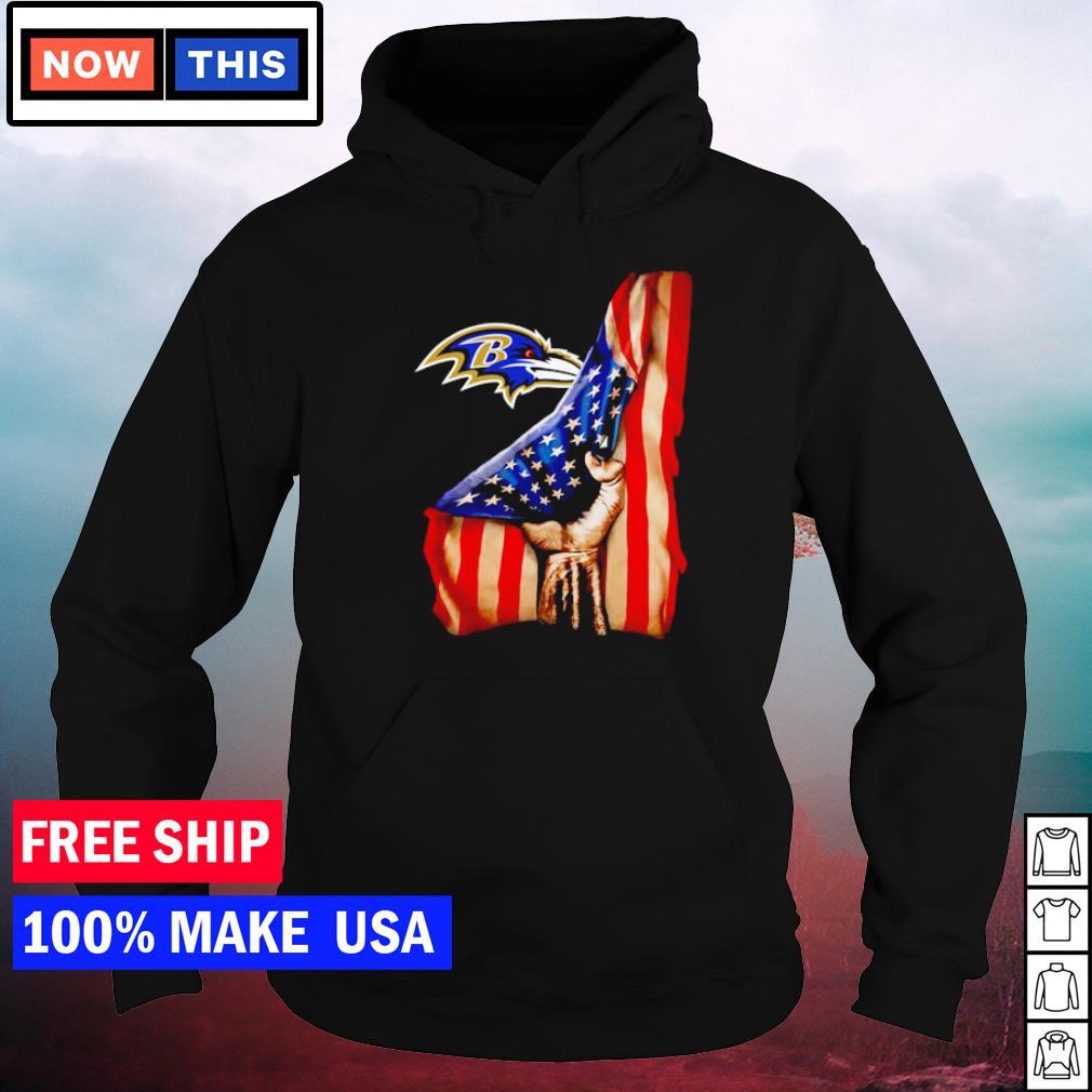 Baltimore Ravens and American Flag drop s hoodie