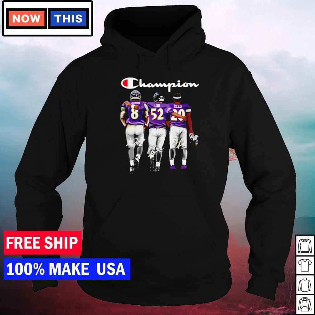 Baltimore Ravens Jackson Lewis and Reed champion signature s hoodie