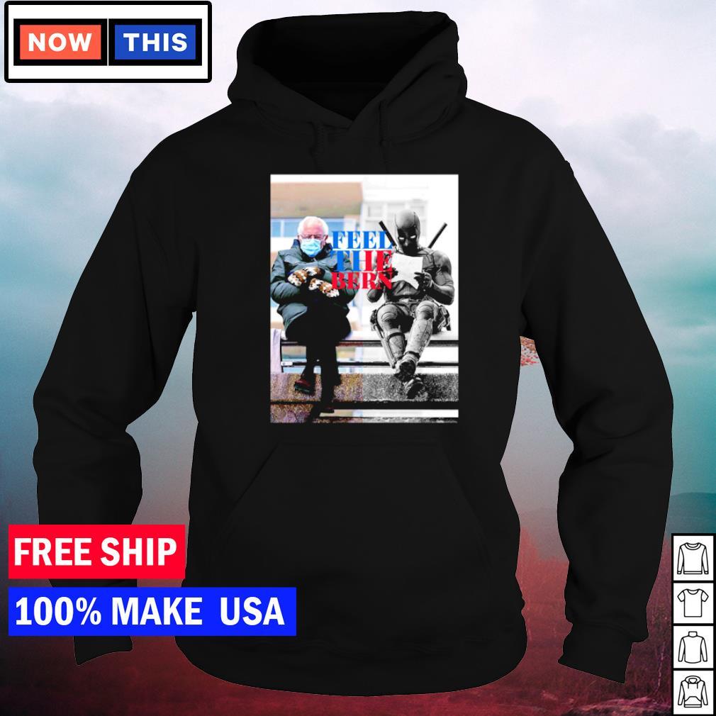 Bernie Sanders Mittens and Deadpool feel the bern s hoodie