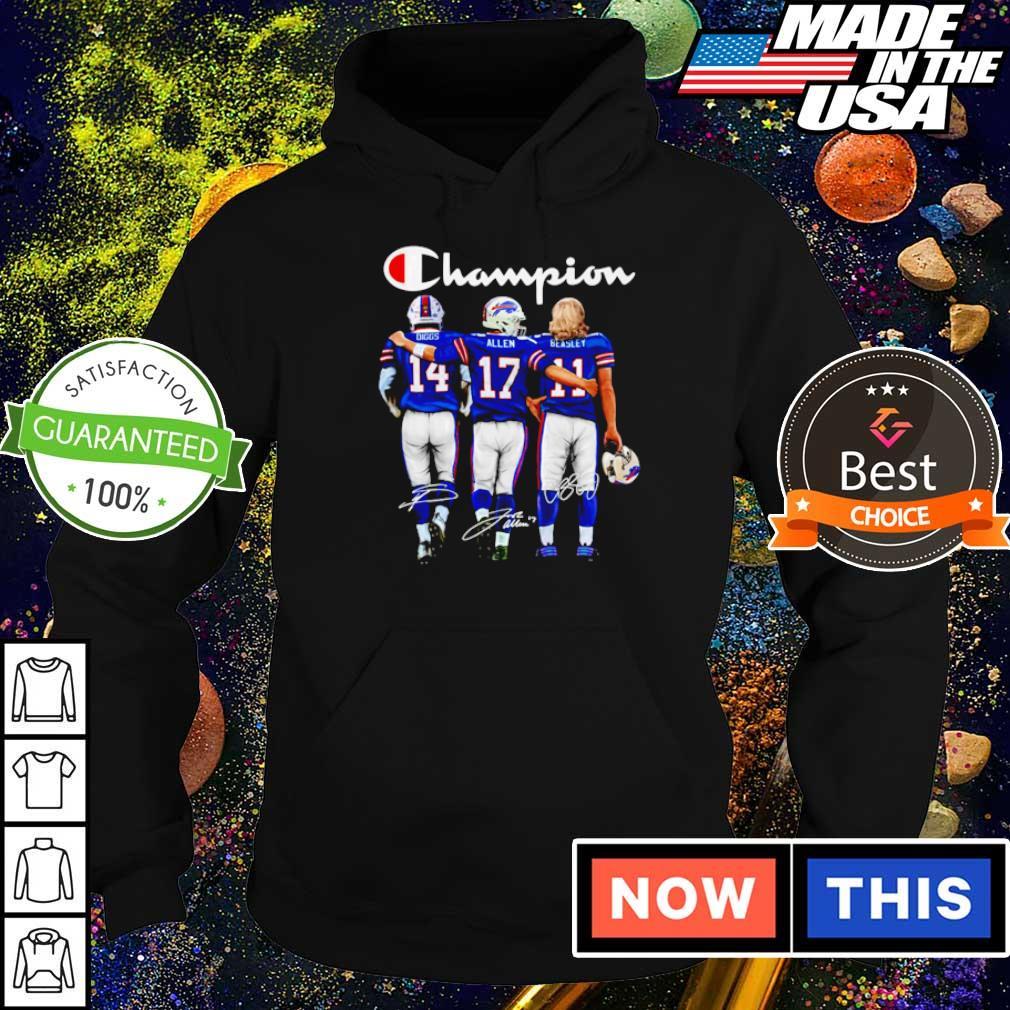 Buffalo Bills Diggs Allen Beasley Champions signature s hoodie