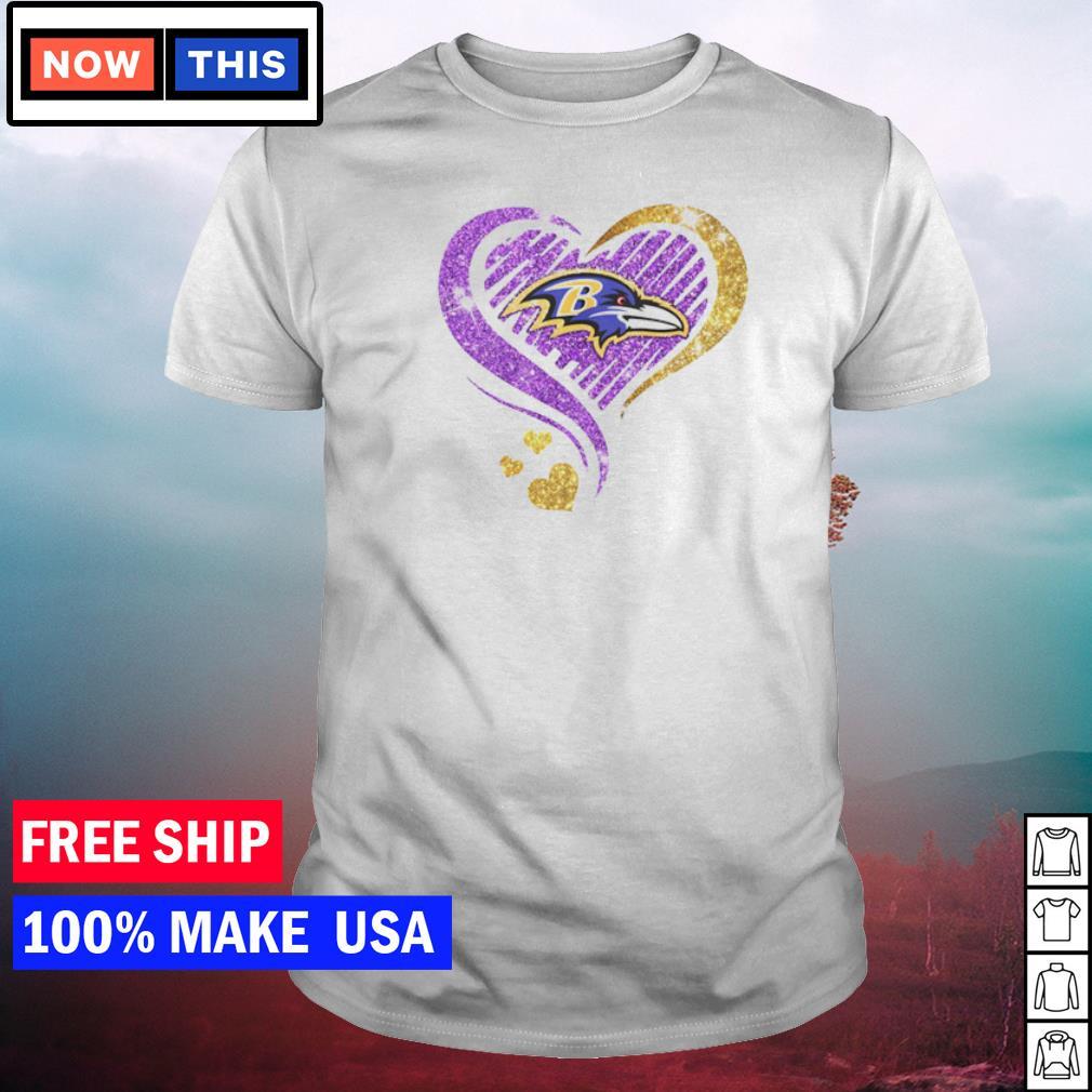 Diamonds heart love Baltimore Ravens shirt