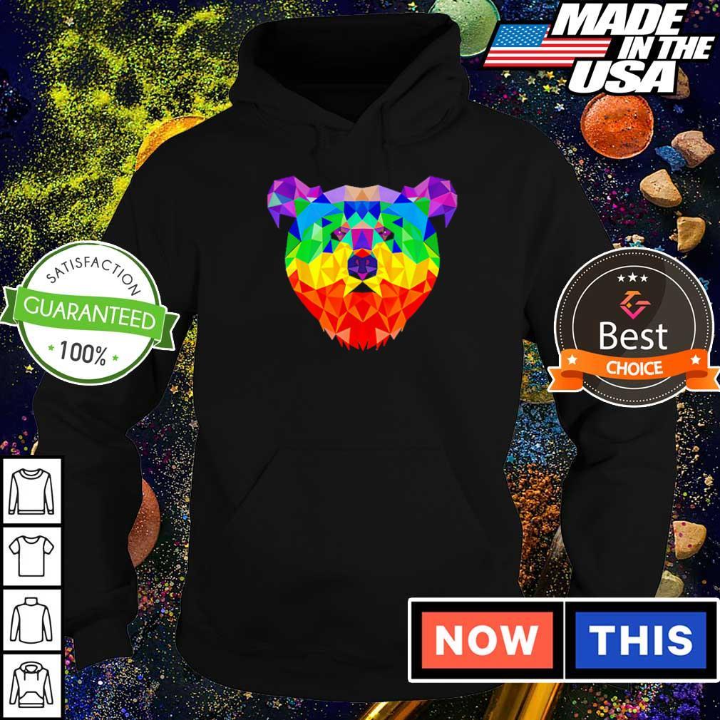 Geometric bear LGBT rainbow 2021 s hoodie