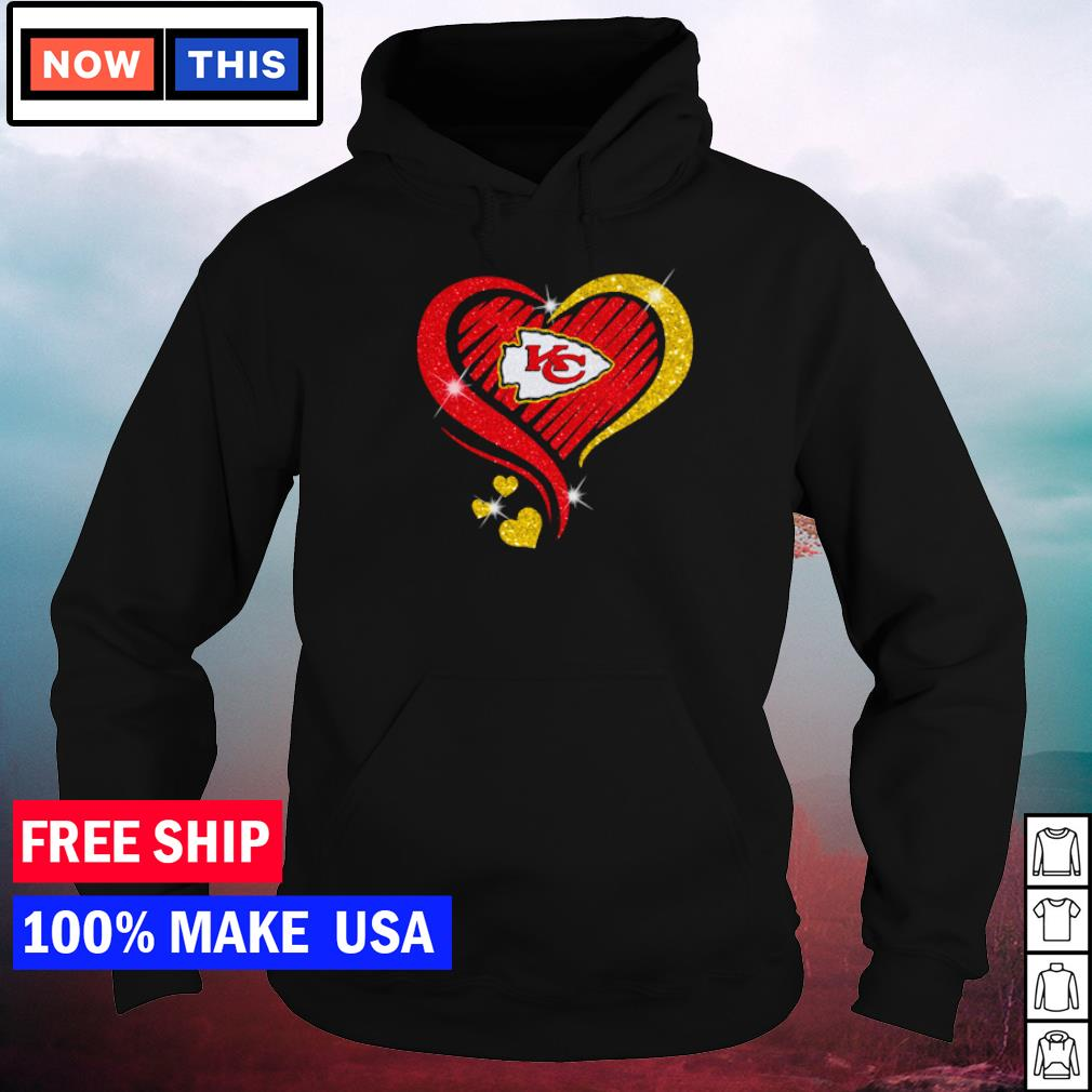 Heart Kansas City Chiefs love s hoodie