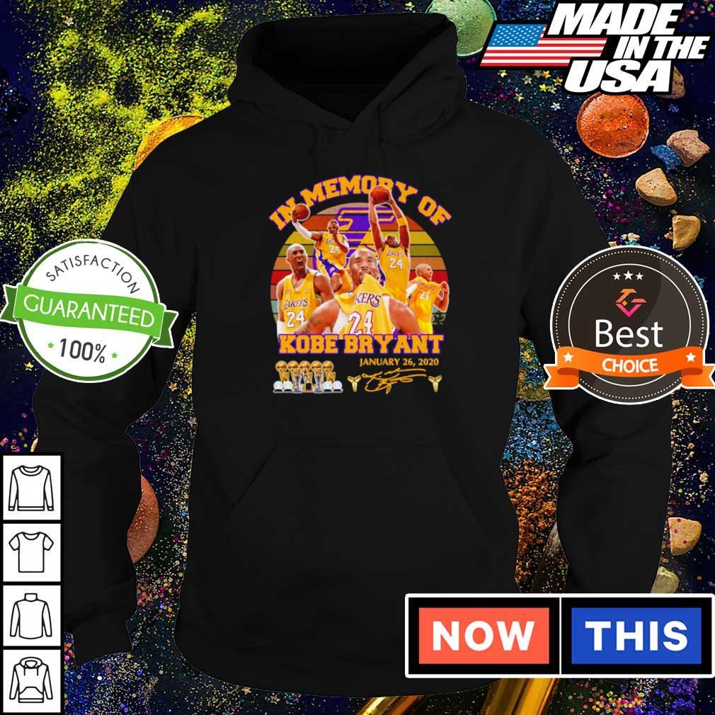 In memory of Kobe Bryant january 26 2020 signature s hoodie