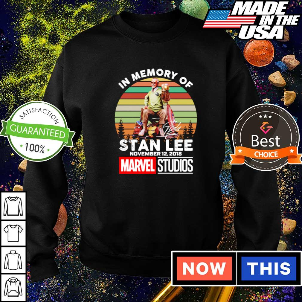 In memory of Stan Lee november 12 2018 Marvel Studios signature vintage shirt
