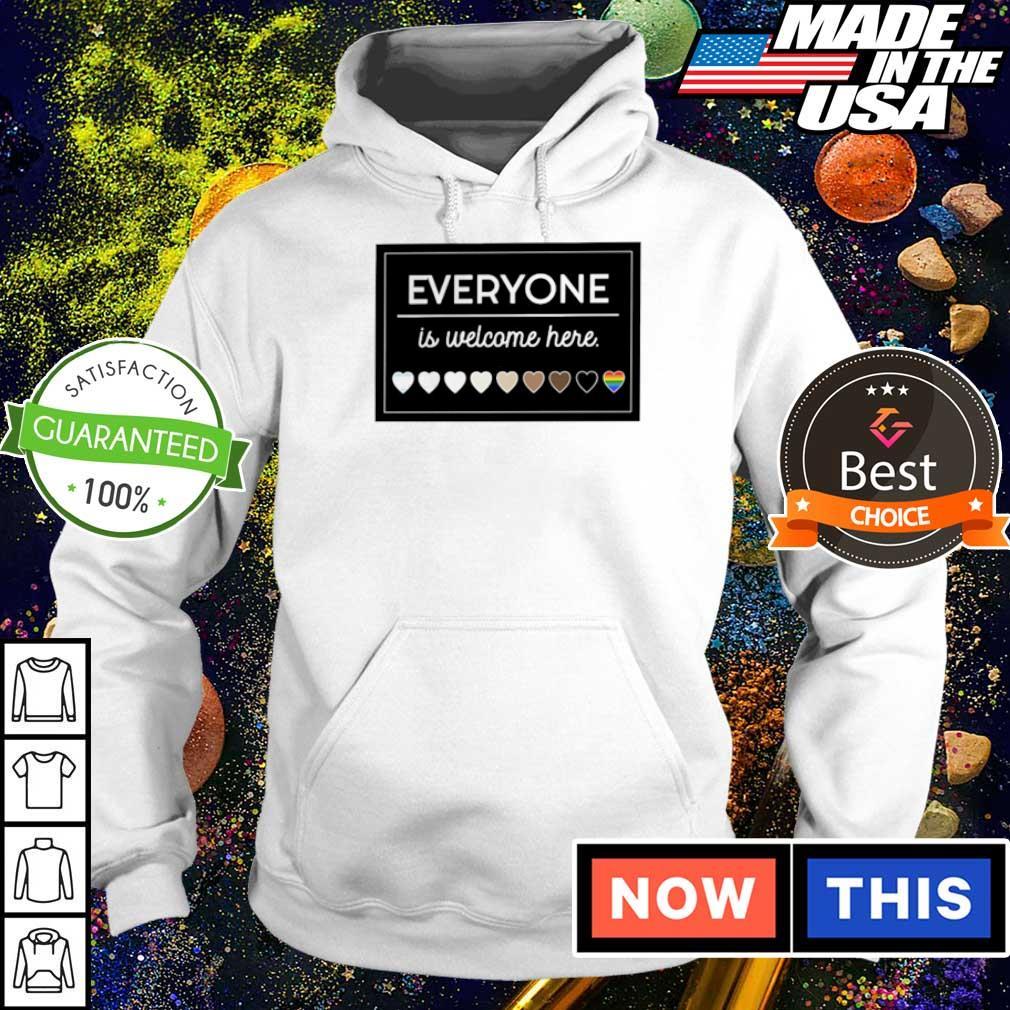 LGBT everyone is welcome here 2021 s hoodie
