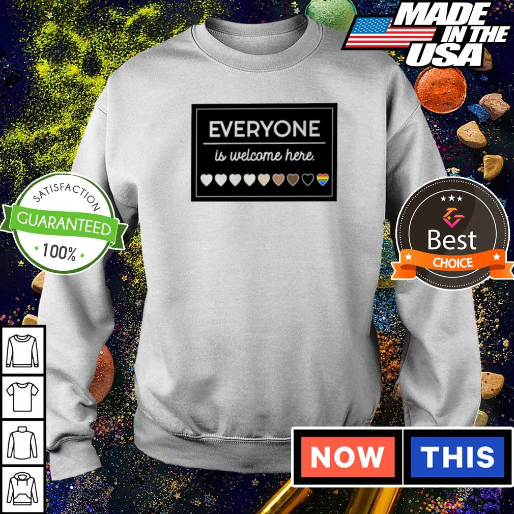 LGBT everyone is welcome here 2021 shirt