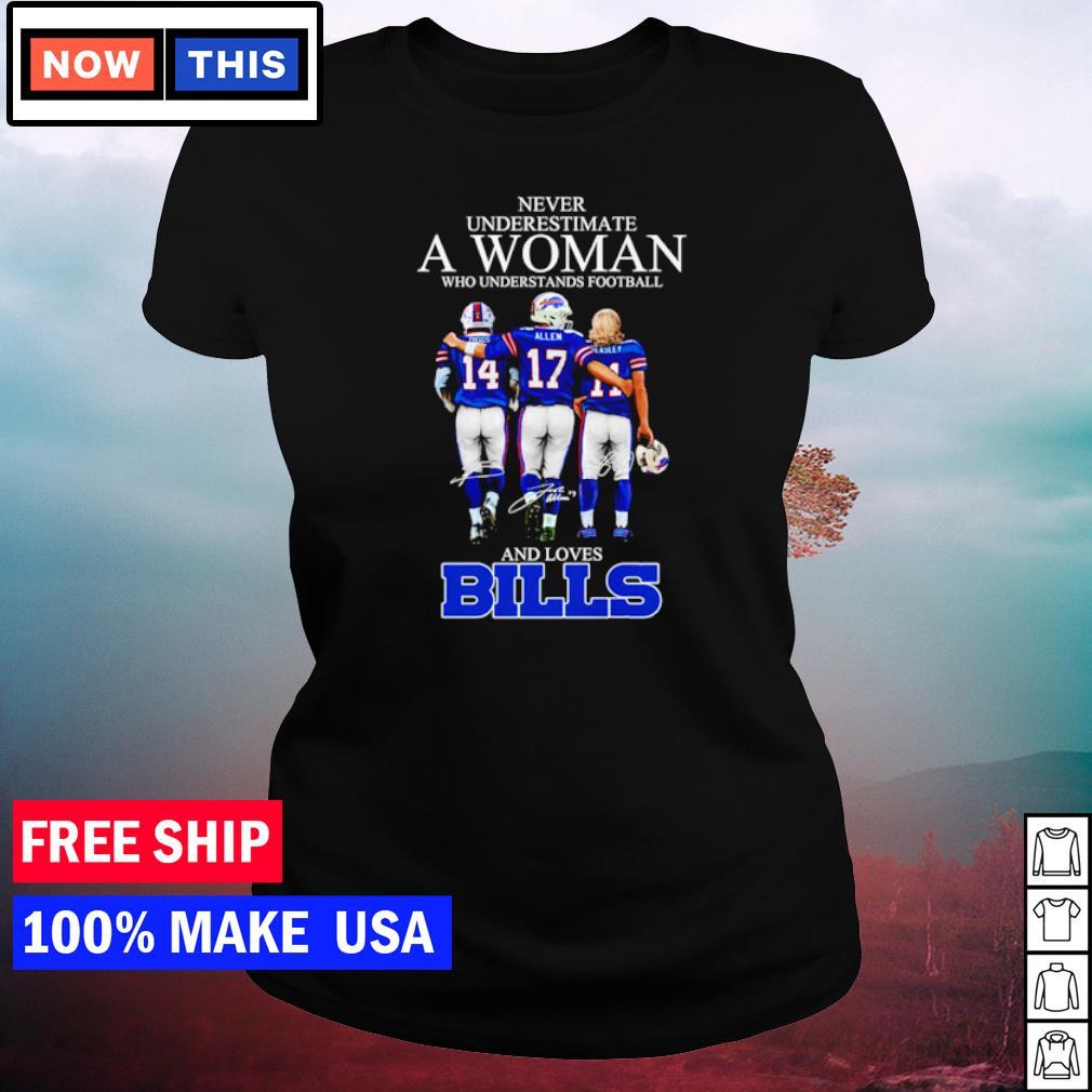 Buffalo American Football Team T Shirt Never Underestimate A Woman Who Understands Football And Loves Bills Football Team T Shirt