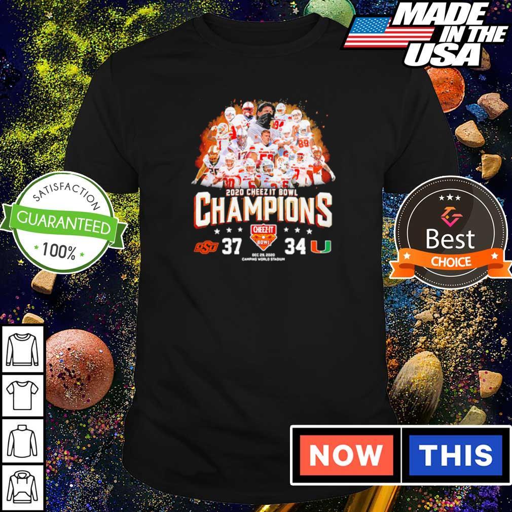 Oklahoma State 2020 cheez it bowl champions s shirt