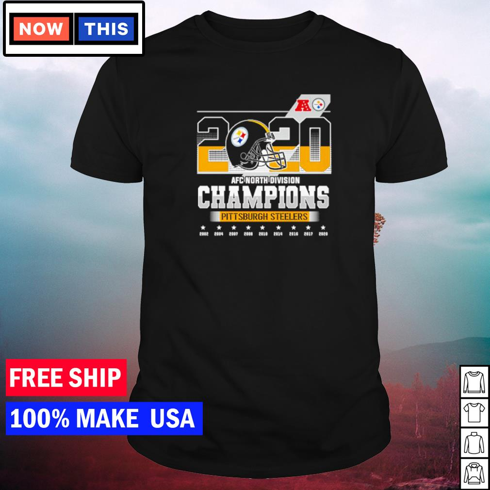 Pittsburgh Steelers 2020 AFC North Division Champions 2002 to 2020 shirt
