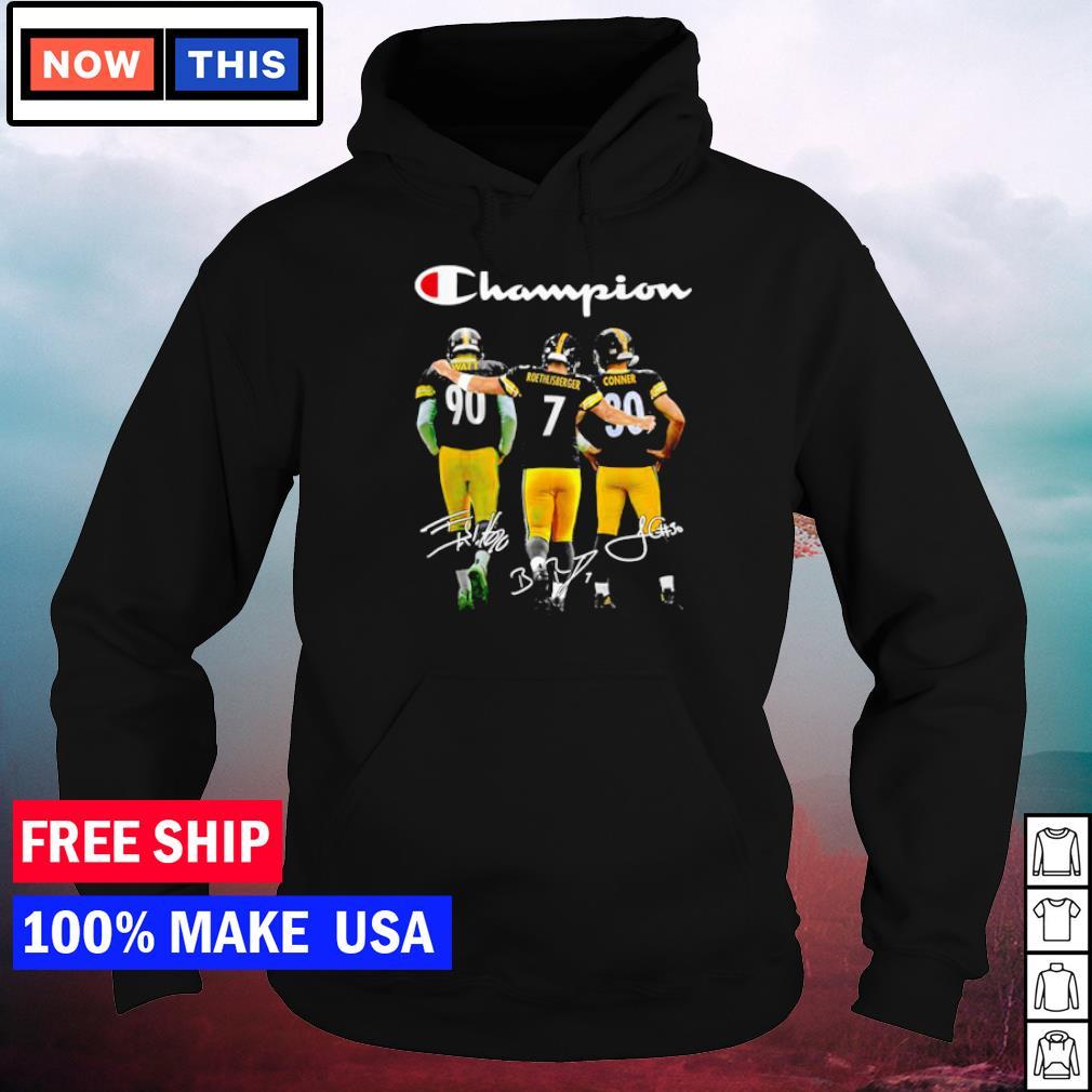 Pittsburgh Steelers Watt Roethlisberger and Conner champion signature s hoodie