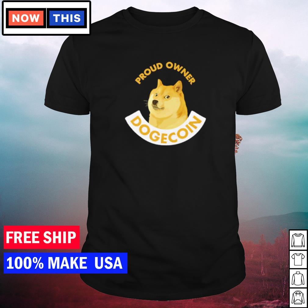 Proud owner dogecoin Cheems meme shirt