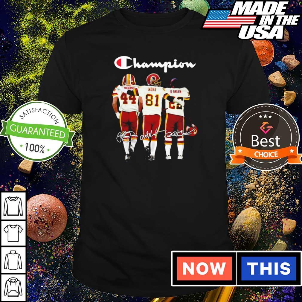 Redskins Riggins Monk D Green champion signature s shirt