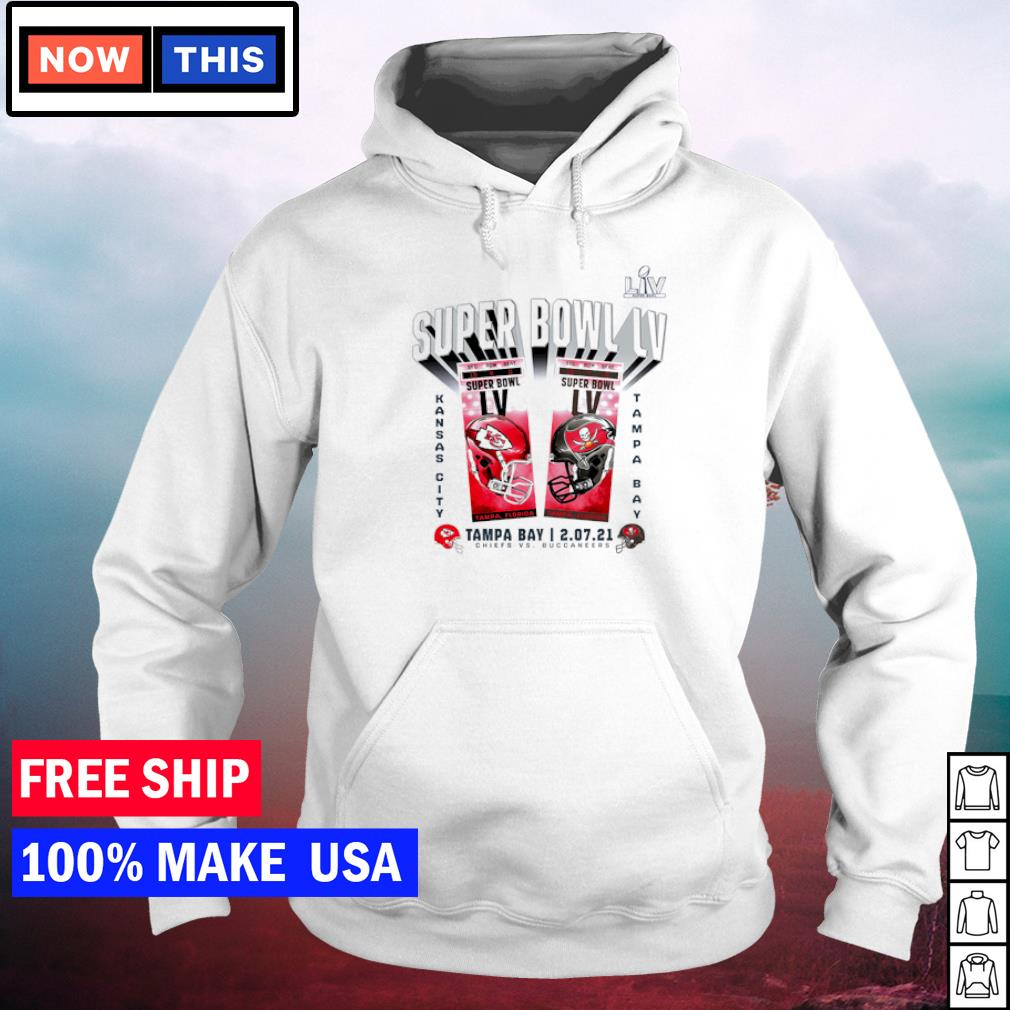 Super Bowl LIV Tampa Bay Buccaneers vs Kansas City Chiefs feburary 07 2021 s hoodie
