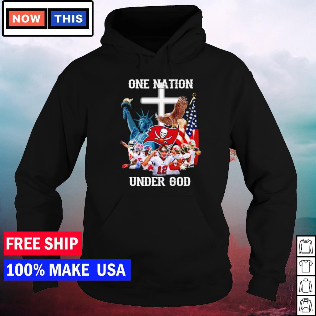 Tampa Bay Buccaneers one nation under God American Flag s hoodie