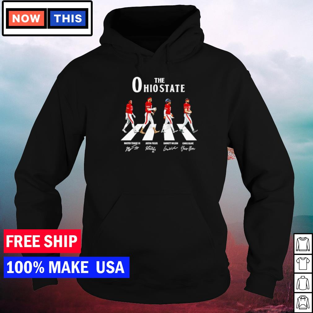 The Ohio State Buckeyes Teague Fields Wilson and Olave Abbey Road signature s hoodie