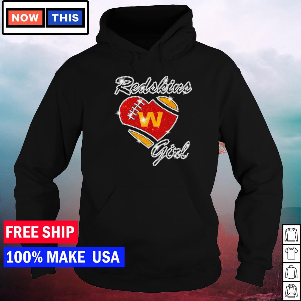 Washington Football girl diamond heart love s hoodie