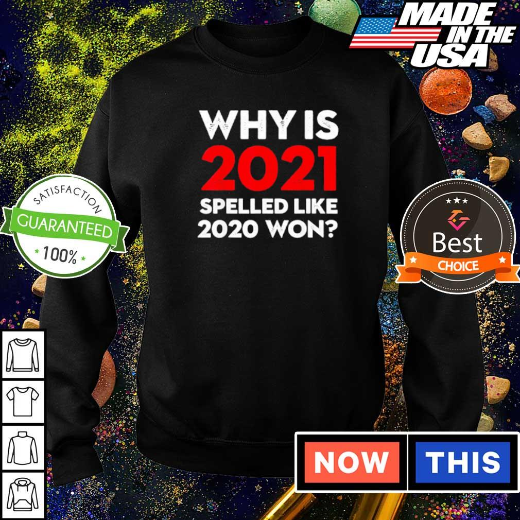 Why is 2021 spelled like 2020 won s sweater